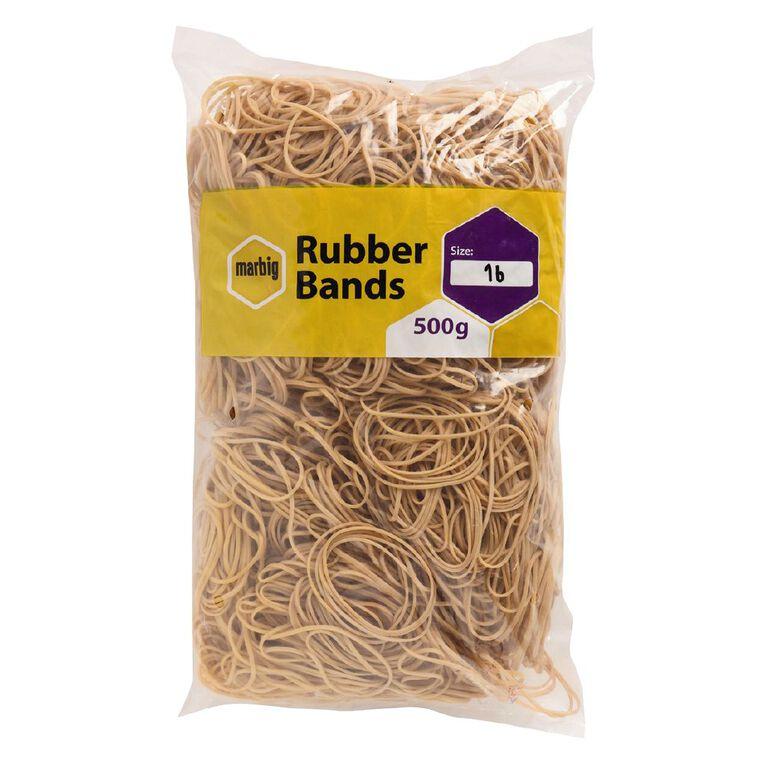 Marbig Rubber Bands 500g #16 Brown, , hi-res