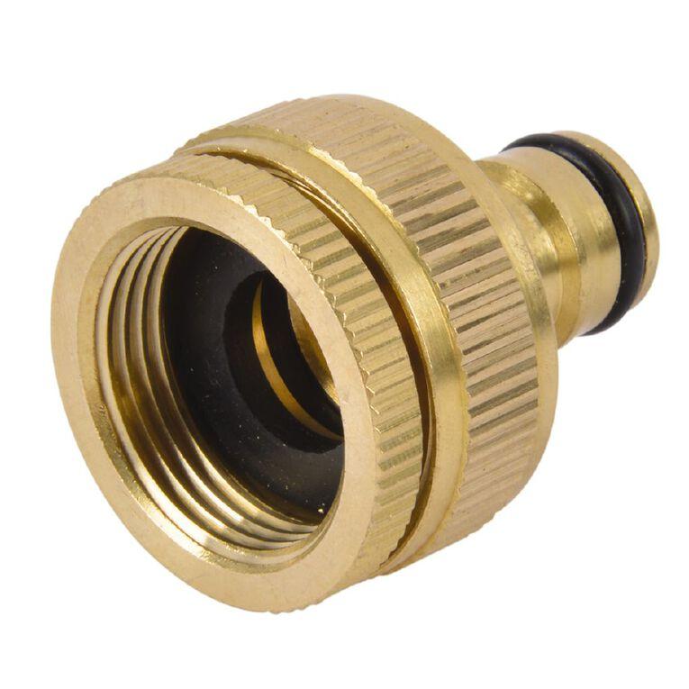 Kiwi Garden Brass Universal Tap Adaptor 12mm, , hi-res