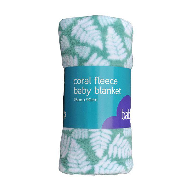 Babywise Coral Fleece Blanket Fern, , hi-res