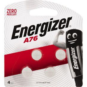 Energizer Alkaline Button Batteries A76 4 Pack