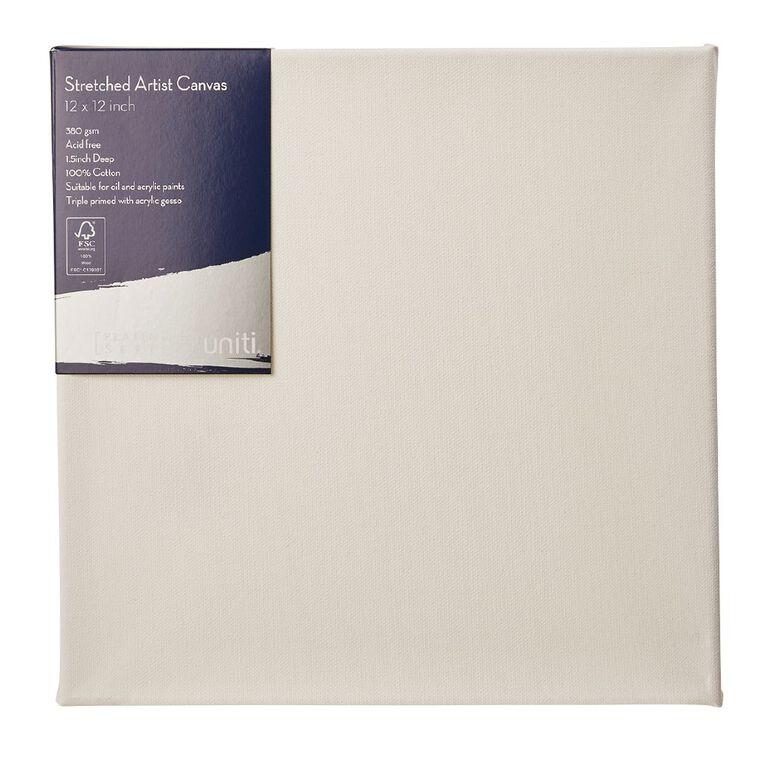 Uniti Platinum Canvas 12x12 Inches 380Gsm, , hi-res