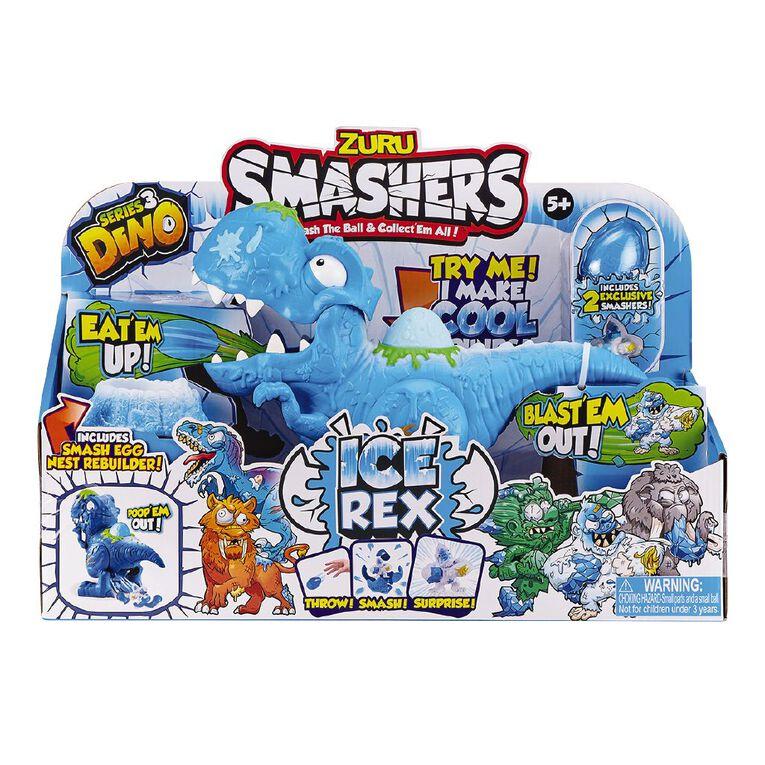 Zuru Smashers Dino Ice Age Series 3 Ice Age T-Rex Playset Assorted, , hi-res