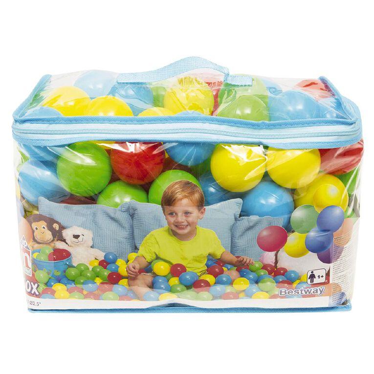 Fun Balls 100 Pack Multi-Coloured 50mm, , hi-res