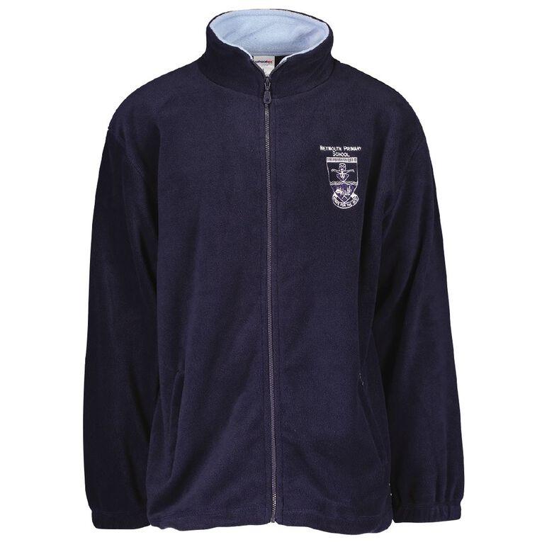 Schooltex Weymouth Primary Polar Fleece Jacket with Embroidery, Navy/Sky, hi-res