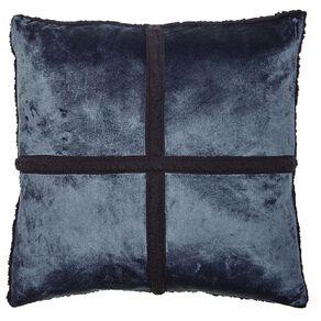 Living & Co Sherpa Cross Cushion Eclipse Blue Dark 50cm x 50cm