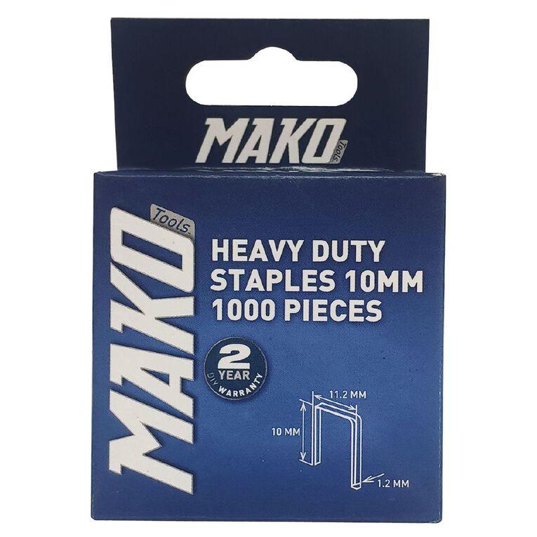 Mako Heavy Duty Staples 1000 10mm, , hi-res