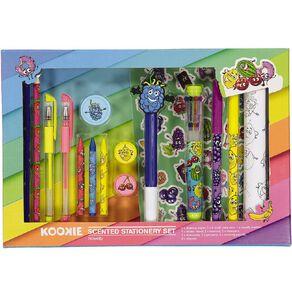 Kookie Novelty Stationery Set Scented 16 Piece Multi-Coloured