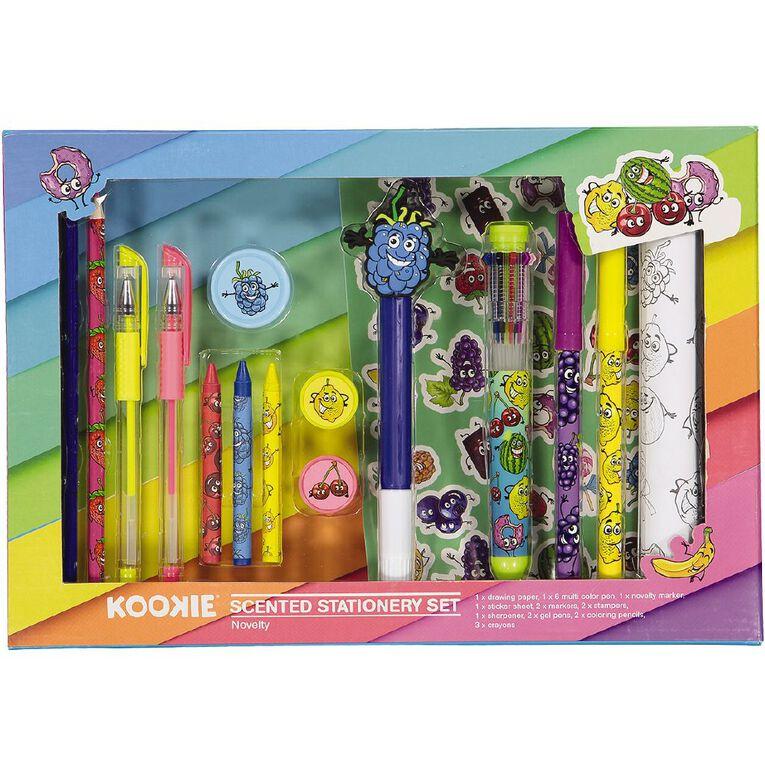 Kookie Novelty Stationery Set Scented 16 Piece Multi-Coloured, , hi-res