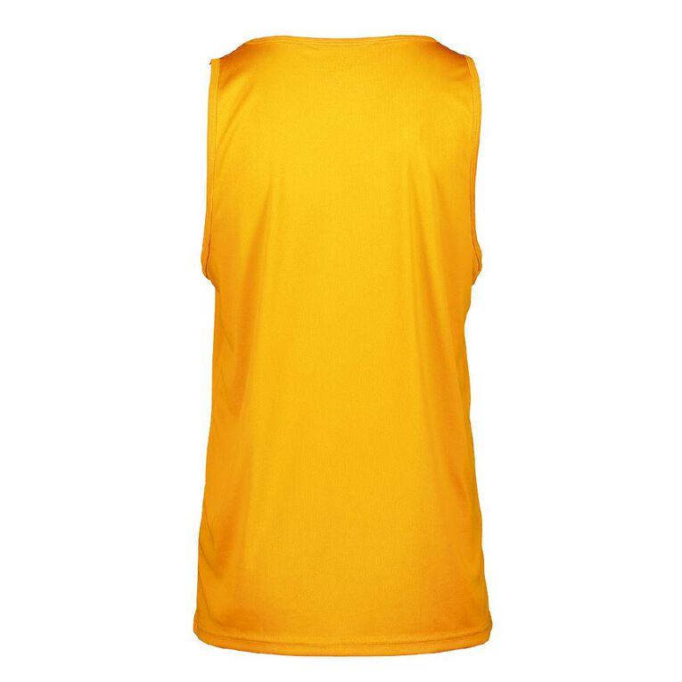 Active Intent Men's Cooldry Singlet, Orange/Fluro, hi-res