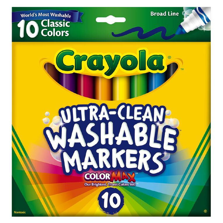 Crayola Ultra Clean Washable Markers 10 Pack, , hi-res