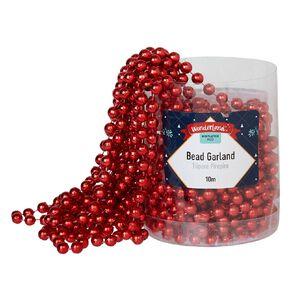 Wonderland Mistletoe Fizz Bead Garland Red 10m