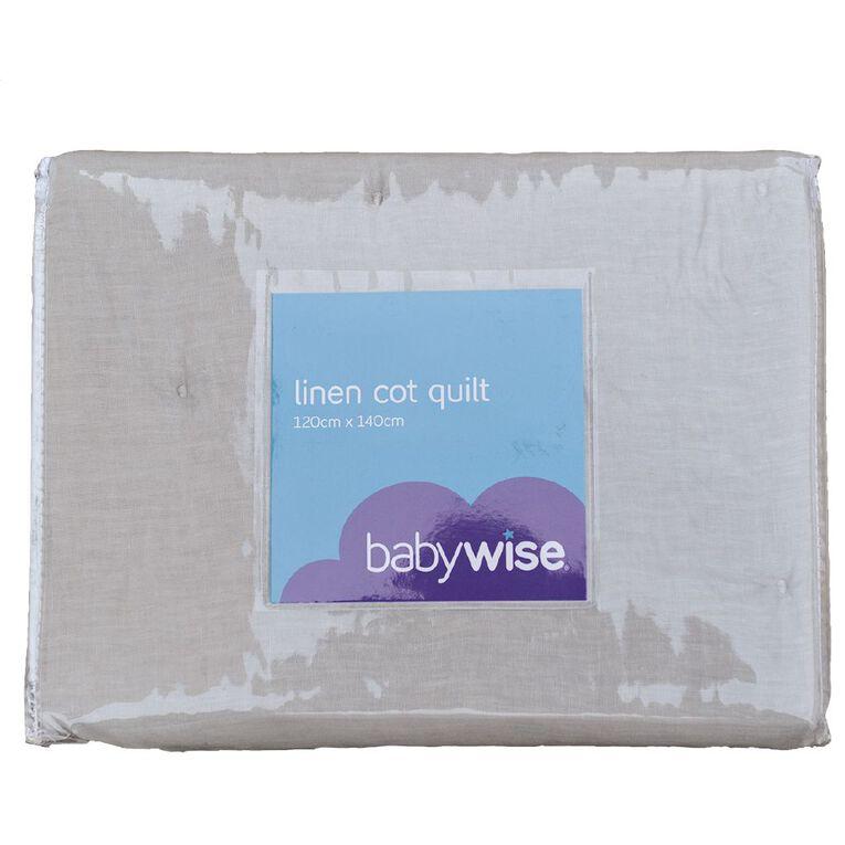 Babywise Linen Cot Quilt, , hi-res