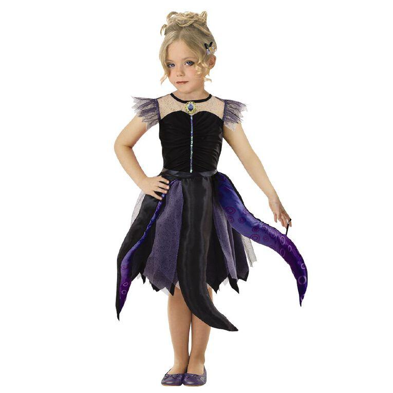 Princess Disney Ursula Deluxe Costume 3-5 Years, , hi-res