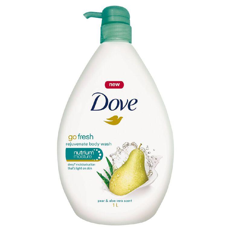 Dove Bodywash Pear & Aloe 1L, , hi-res