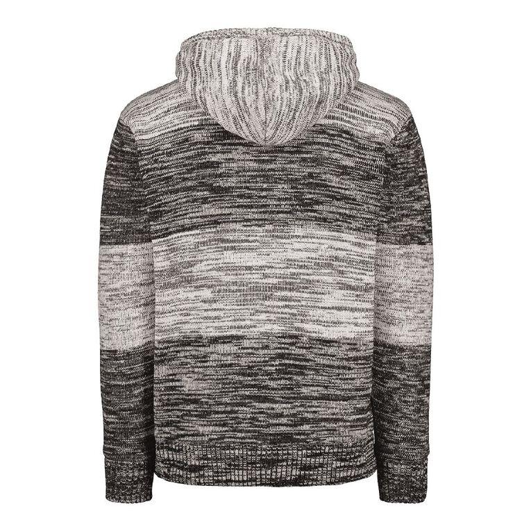 H&H Men's Ombray Stripe Sherpa Lined Jumper, Grey/Charcoal, hi-res