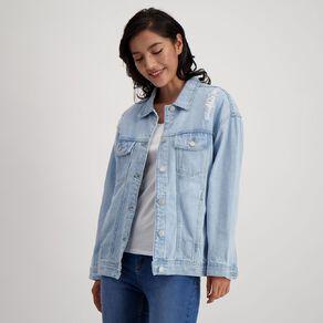H&H Women's Oversized Boyfriend Denim Jacket
