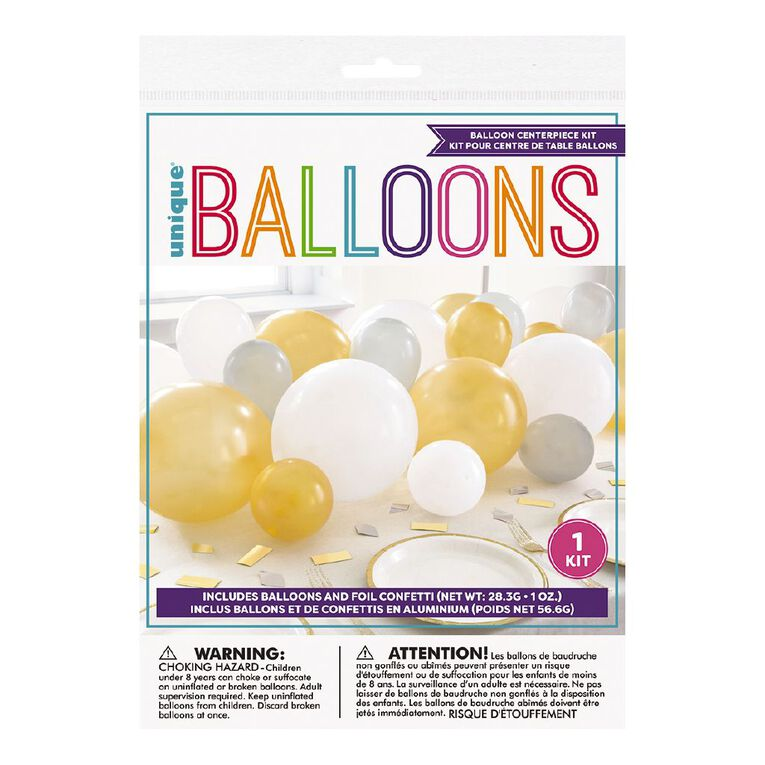 Unique Balloon Centrepiece Kit Metallic, , hi-res