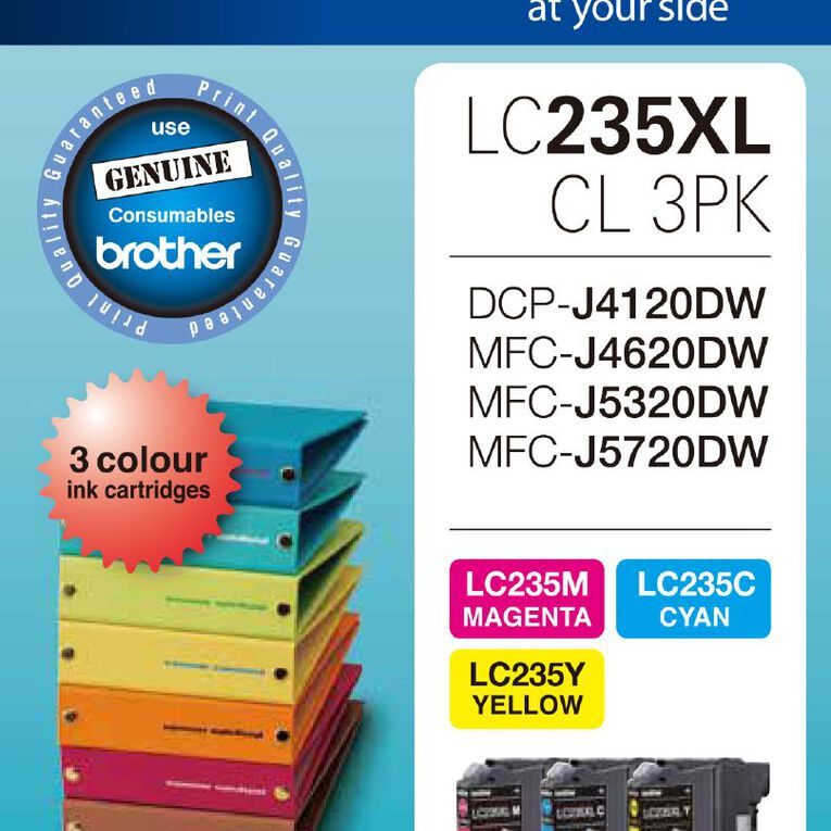 Brother Ink LC235XL Colour 3 Pack (1200 pages), , hi-res