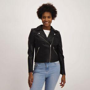 H&H Women's PU Biker Jacket