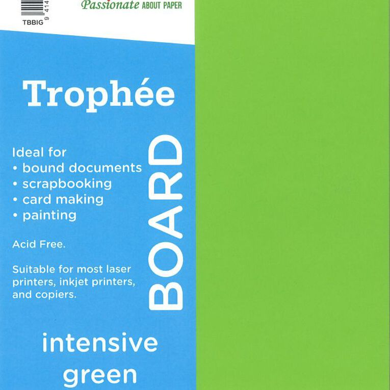 Trophee Board 210gsm 100 Pack Intensive Green A4, , hi-res