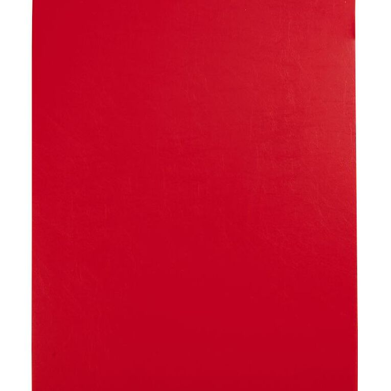 GBP Stationery Foolscap Pvc Single Clipboard Red, , hi-res