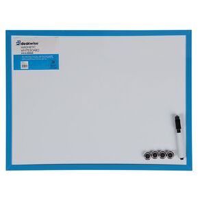 Deskwise Magnetic Whiteboard 370mm x 490mm Assorted