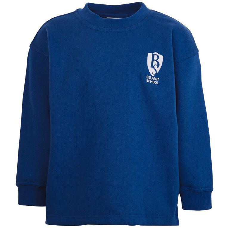 Schooltex Belfast School Crew Neck Tunic with Embroidery, Royal, hi-res