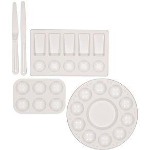 Uniti Palette & Knife Set Plastic 5 Piece