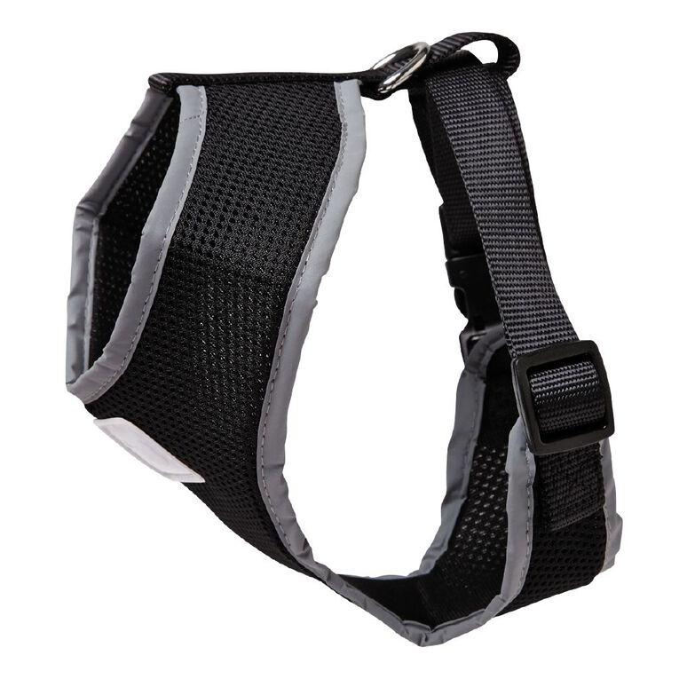 Petzone Reflective Mesh Harness Black Medium, , hi-res