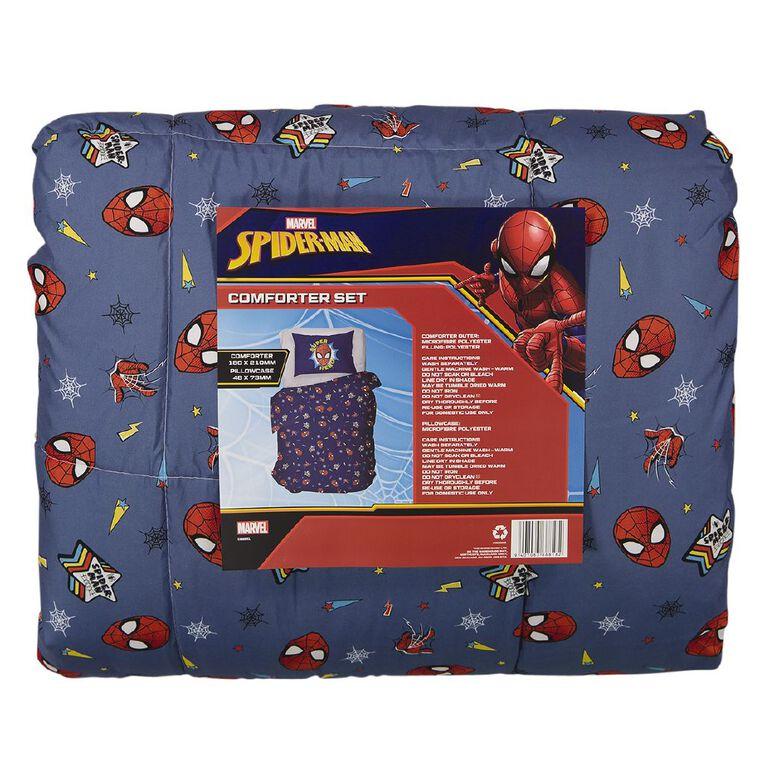 Spider-Man Comforter Set Blue King Single, Blue, hi-res
