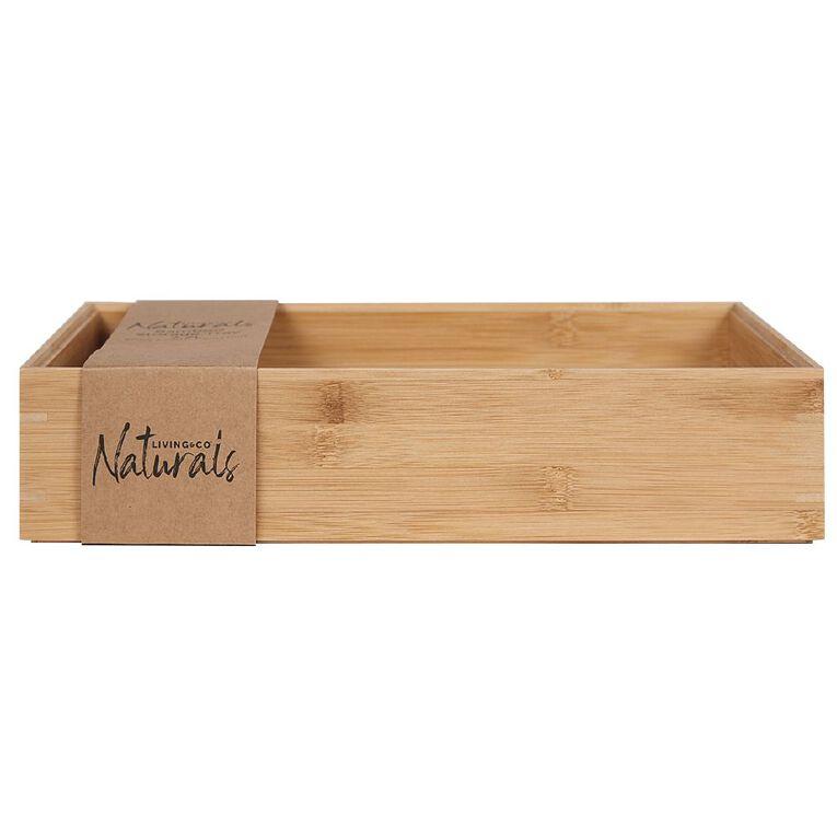 Living & Co Bamboo Storage Tray Natural 7.7L, , hi-res