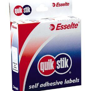 Quik Stik Labels Labels Ring Eyelets 200 Pack White