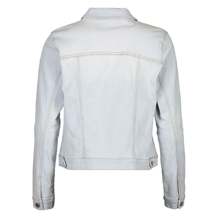 H&H Women's Denim Jacket, Denim Light, hi-res