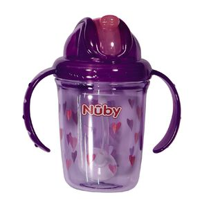Nuby Tritan Flip it with Weighted Straw 240ml