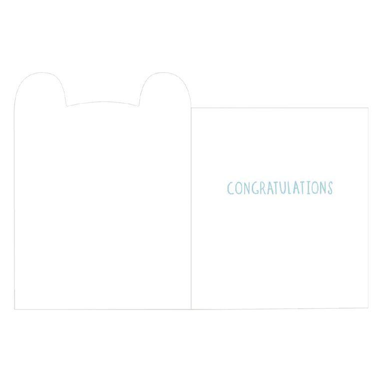 John Sands Birth Congratulations Card Birth Boy Blue Bear Hello Little, , hi-res