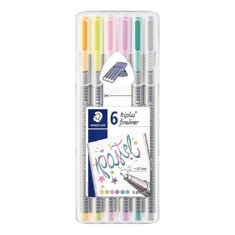 Staedtler Triplus Fineliner 0.3mm Wallet of 6 - Pastel Colours, , hi-res
