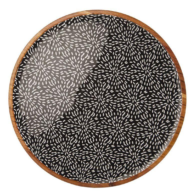 Living & Co Tokyo Wood & Enamel Platter, , hi-res
