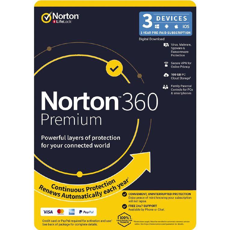 Norton 360 Premium 3 Device 12 Months, , hi-res