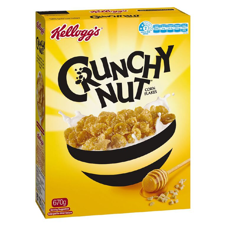 Kelloggs Crunchy Nut Corn Flakes Cereal 670g, , hi-res