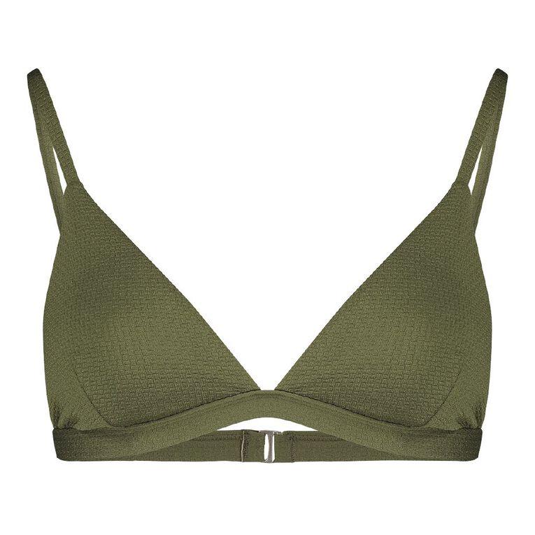 H&H Swim Women's Bralette Bikini Top, Green Mid, hi-res