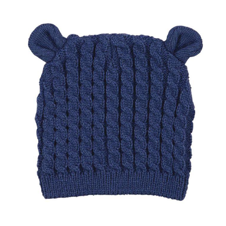 Young Original Infants' Knit Cable Beanie, Blue Light, hi-res