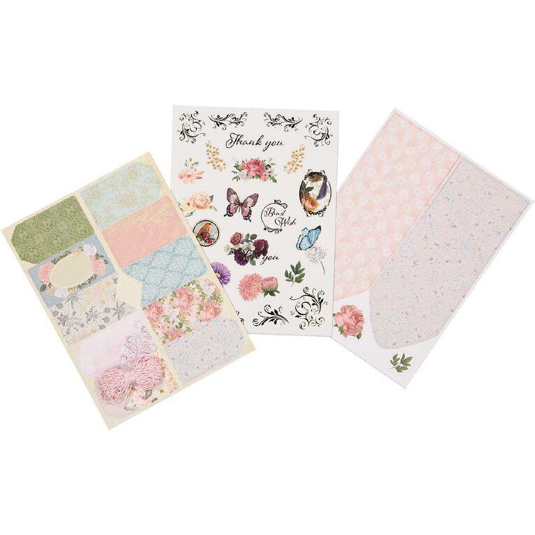 Uniti Gift Tag DIY Kit Vintage Floral, , hi-res