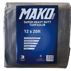 Mako Tarpaulin Silver/Black 205gsm 12ft x 20ft