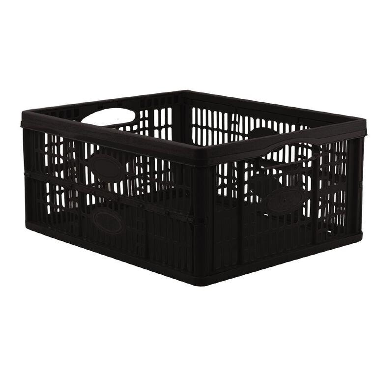 Folding Basket 450mm x 320mm x 190mm Black, , hi-res