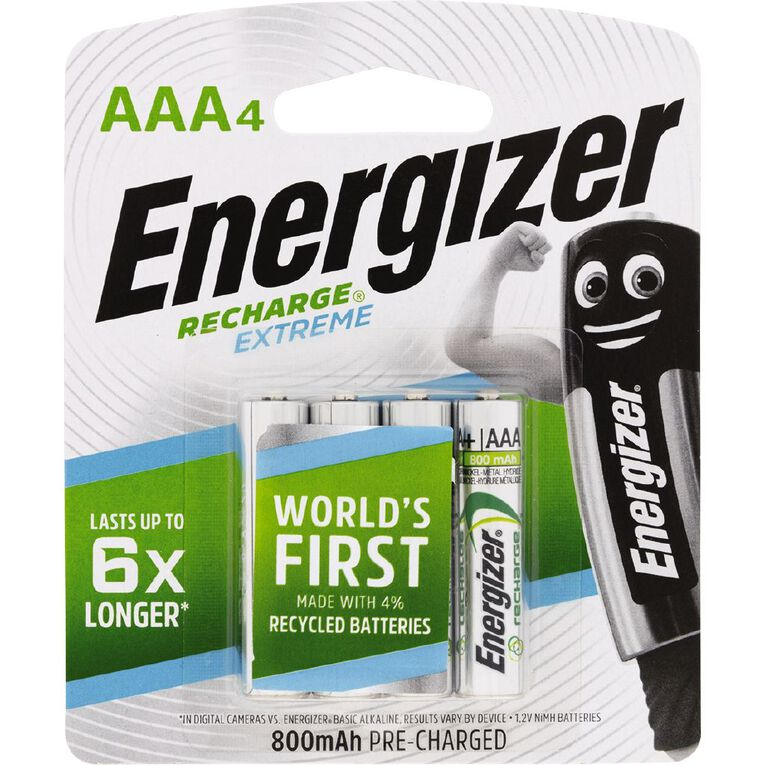 Energizer Rechargeable Battery NiMH AAA 4 Pack, , hi-res