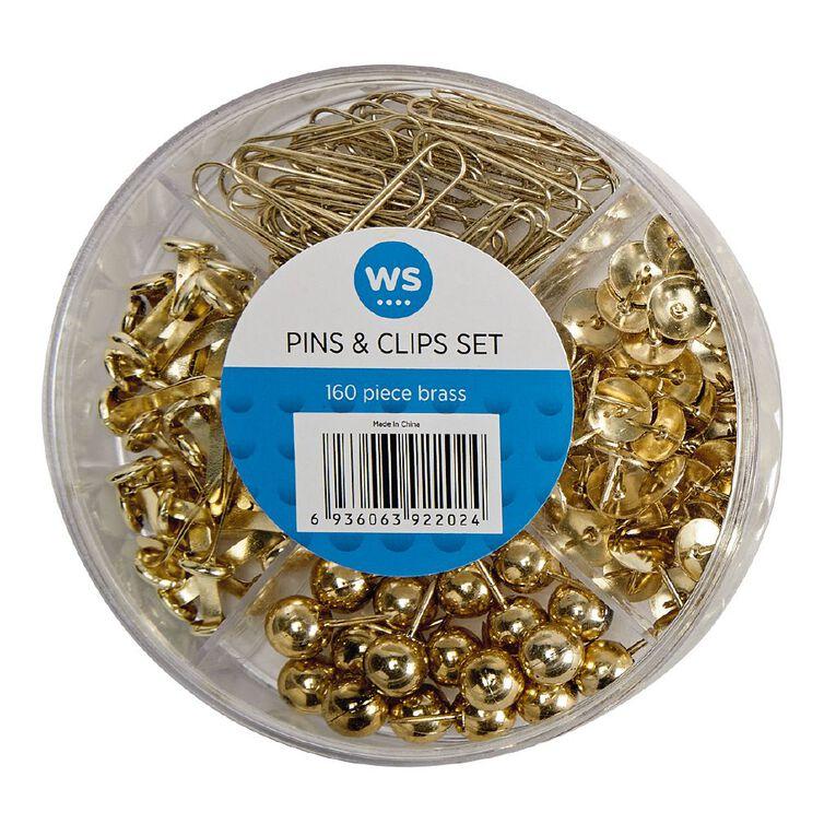 Impact Pins & Clips Set 160 Piece Brass, , hi-res