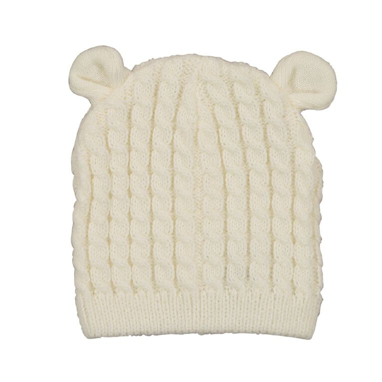 Young Original Infants' Knit Cable Beanie, White, hi-res