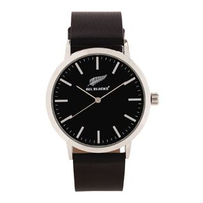 All Blacks Classic Analogue Watch Leather Black