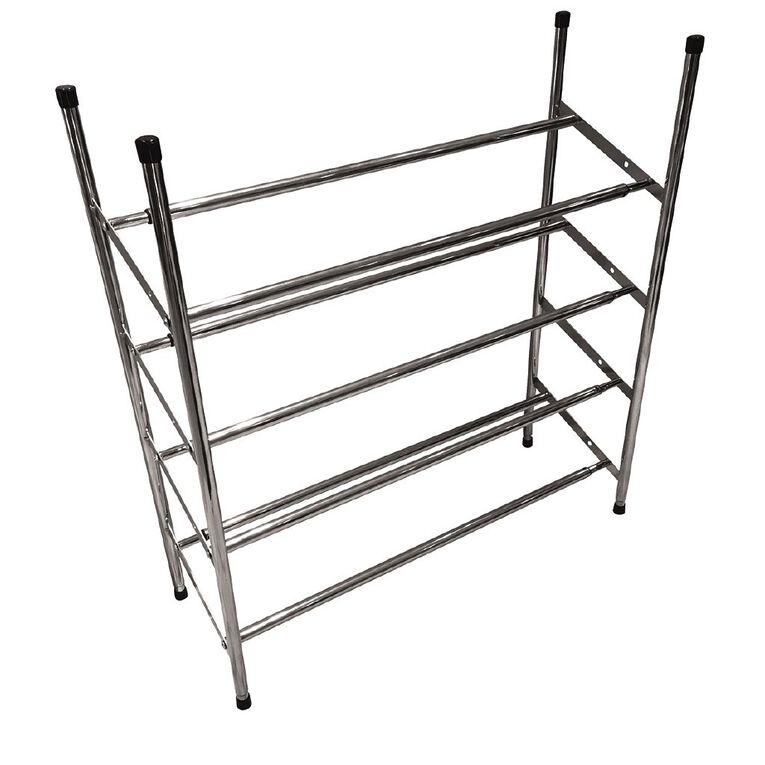 Living & Co 4 Tier Metal Extendable & Stackable Shoe Rack, , hi-res