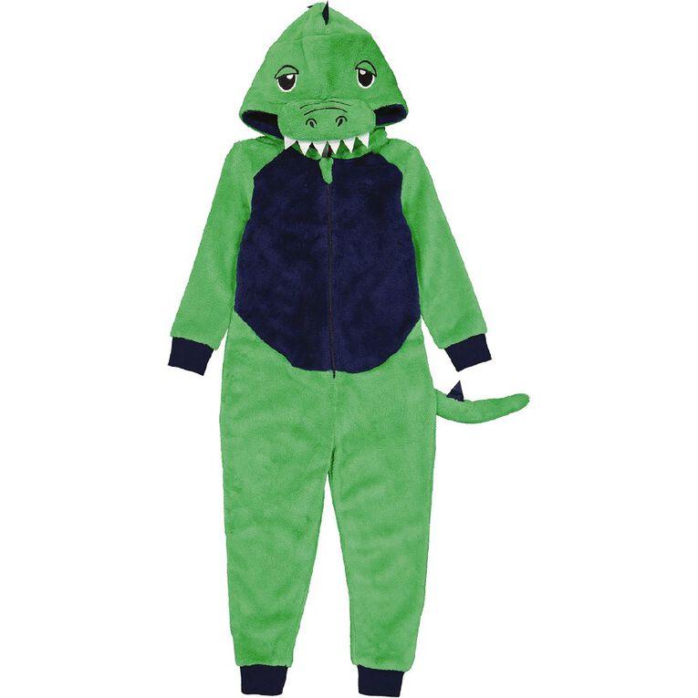 H&H Kids' Dino Onesie, Green, hi-res